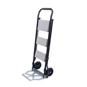 2 in 1 New 3 step Ladder And Hand Truck Trolley Cart Folding W Two Wheels 330lb