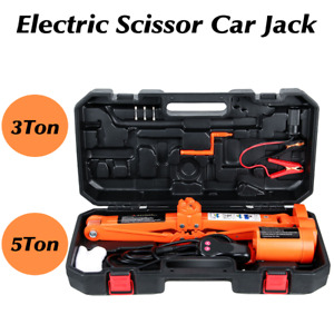 Car Jack Lift 12v3 5ton Electric Scissor Hydraulic Floor Jack Tire Inflator Tool