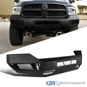 For 13 18 Dodge Ram 1500 Pickup Truck Black Steel Front Guard Bumper Replacement