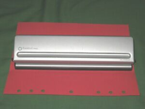 Monarch 7 Hole Punch Franklin Covey Planner Silver Metal Paper Punch