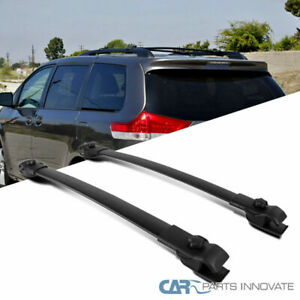 For 11 18 Toyota Sienna Replacement Black Roof Top Cross Bars Cross Bars Rack