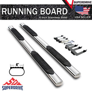 Fits 2015 2020 Ford F150 Crew Cab 4 Oval Running Board Step Side Nerf Bar