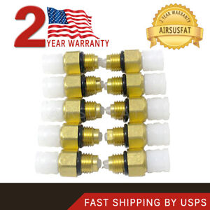 10pcs Air Suspension Spring Shock Brass Valve Connector For W164 W221 W220 W211