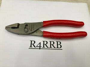 Snap On Tools Usa New 8 Red Talon Grip Combination Slip Joint Pliers 47acf