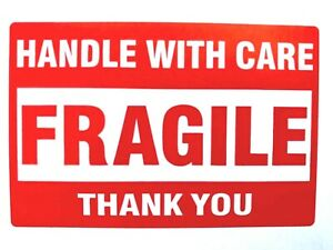 25 Fragile Handle With Care Stickers 2 X 3 Shipping Mailing Packaging Labels