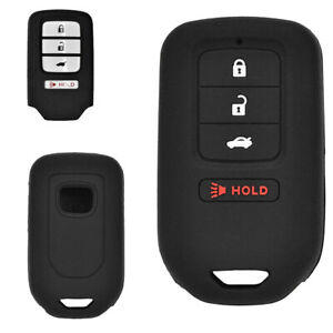 2pcs Silicone 4 Buttons Key Fob Cover Case For Honda Accord Civic Crv Ridgeline