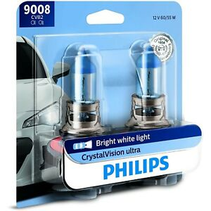 9008cvb2 Philips New Set Of 2 Head Light Driving Headlamp Headlight Bulbs Pair