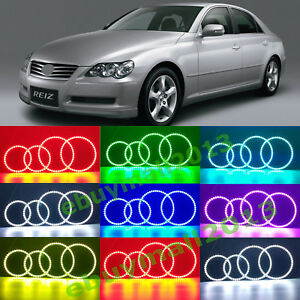 Rgb Halo Ring Angel Eyes For Toyota Mark x Reiz 2004 2005 2006 2007 2008 2009