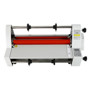 V350 13 35cm Hot Cold Roll Laminator Laminating Machine Single double Side Heat
