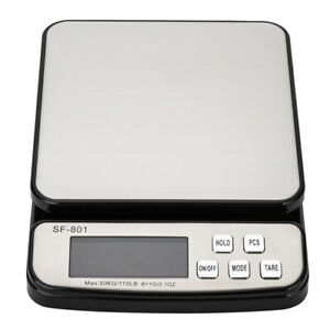 50kg 10g Digital Postal Shipping Scale Weight Postage Adapter 3x Battery Us