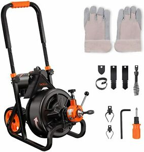 Tacklife Drain Cleaner Machine 75 Ft X 1 2 Inch Electric Drain Auger Autofeed