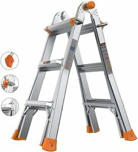 Tacklife Extension Ladder 13ft Multi use Ladder With 300 Lbs Load Capacity 3 S