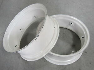 2 Wheel Rims 12x28 For Ford 801 811 820 821 840 841 850 851 860 861 871 881 8n
