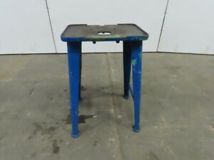 19 x13 Vintage Industrial Cast Iron Die Drill Press Base Stand Table