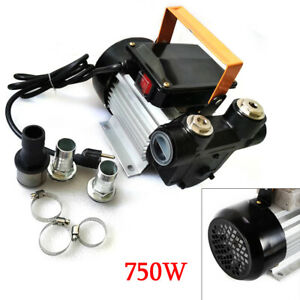 750w 110v 16gpm Commercial Electric Oil Pump Self Priming Transfer Fuel 15m 49ft
