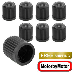 8x Black Plastic Tire Valve Air Dust Cover Stem Caps Wheel Car Truck Suv Bike