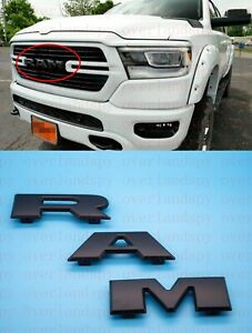 2019 2021 Black Ram Front Grille Emblem Nameplate Badge For Ram1500 Mopar