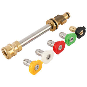 1 4 Compatible Pressure Washer Adapter With 5 Nozzle Tips Of Different Degrees