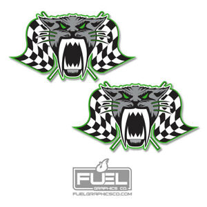 Arctic Cat Racing Premium Vinyl Decal Sticker 2 pack Made In The Usa