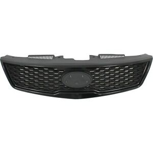 Grille Assembly For 2010 2013 Kia Forte Koup Textured Black