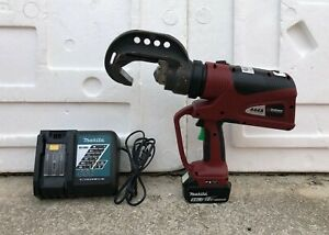 Burndy Pat 444s 11 Ton Battery Actuated Hydraulic Crimper W Battery Charger