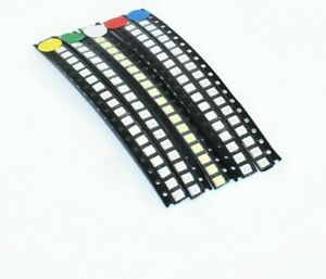 500pcs lot 2835 Smd White Red Blue Green Yellow Super Bright 3528 Led Diodes Kit