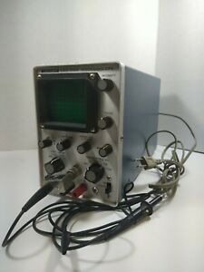 Leader Lbo 310a Oscilloscope Tested And Works Comes With Power Cord And Probe