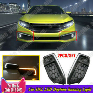 L Style Car Drl Led Daytime Running Light With Turn For Honda Civic 2019 2022 20