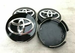 4x For Toyota Black Camry Venza Avalon Sienna Rav4 Wheel Center Hub Caps 62mm
