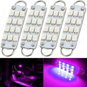 4 X Pink 43mm 211 2 212 2 214 2 12smd 1210 Rigid Loop Led Bulb Door Trunk Tool
