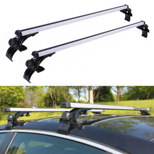 1 Pair 50 Universal Car Suv Top Roof Rack Cross Bars Luggage Carrier Aluminum