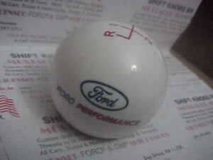 2015 2020 Ford Performance 6 Speed Licensed Ford Shift Knob White Red