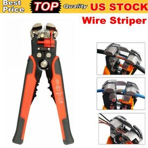 Self Adjusting Insulation Wire Stripper Cutter Crimper Cable Stripping Tool Us