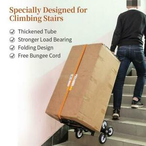 Rolling Utilitytrolley Cart Wheel Climb Stairs Grocery Laundry Folding 330 Lbs