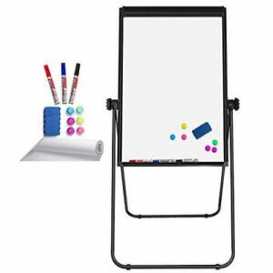 Stand White Board Magnetic 40 X 28 Inches Dry Erase Board Double Sided Adjust