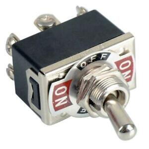 6 pin Toggle Dpdt On off on Electric Metal Switch Polarity Reverse Motor 250v