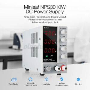 Dc Power Supply Minleaf Nps3010w Variable Digital 30v 10a Adjustable
