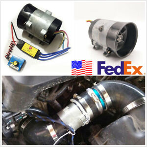 12v 16 5a Car Electric Turbine Turbo Charger Tan Boost Intake Fans Speed Control