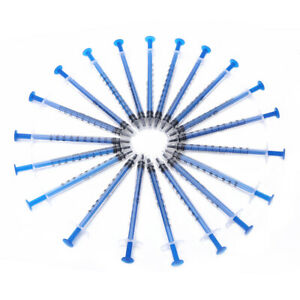 20pcs 1ml Disposable Plastic Injector Syringe For Refilling Measuring Nutrient