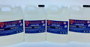 Crystal Clear Epoxy Resin Bar Table Top Crafts coating casting 2 Gallon Kit