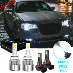 For Chrysler 300 2011 14 200 2013 15 9012 Led Headlight Kit H11 Fog Light Bulb