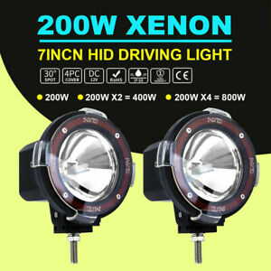 Pair 7 200w Hid Xenon Spot Beam Offroad Light Driving Lamp Hid Ballast For Suv