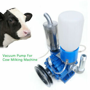 250l min Cow Milking Machine Vacuum Pump Sheep Cow Milker Bucket Tank Barrel Usa
