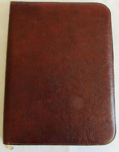 Wilsons Leather Pelle Studio Pebbled Leather Brown Business Portfolio Organizer