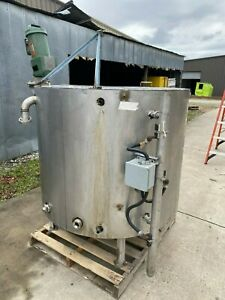 325 Gallon Jacketed Stainless Steel Mix Tank With Lightnin Mixer Model Xj 43