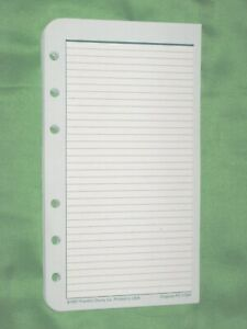 Pocket 50 Lined Note Pages Franklin Covey Planner Refill Binder Fill 202