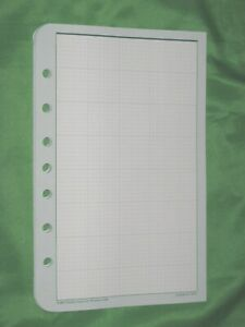 Classic Graph Paper Sheets 38 Pages Franklin Covey Planner Refill Fill