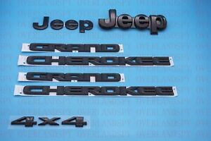 5pcs 2014 2020 Jeep Grand Cherokee Black Front Rear Nameplate Emblem Set Mopar