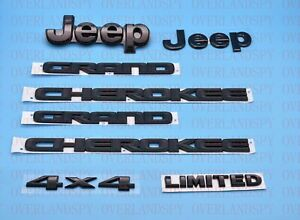 6pcs 2014 2020 Jeep Grand Cherokee Black Front Rear Nameplate Emblem Set Limited