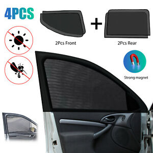 4pcs Magnetic Car Side Rear Window Baby Sun Shade Breathable Mesh Cover Sunshade